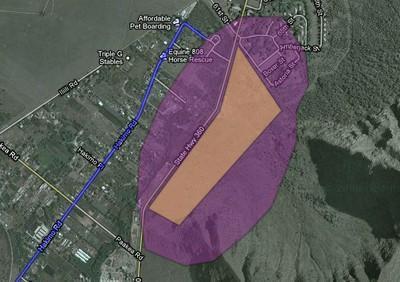 purple spot map