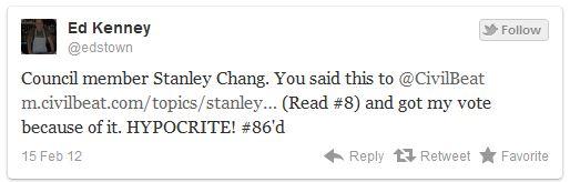 Ed Kenney Tweet