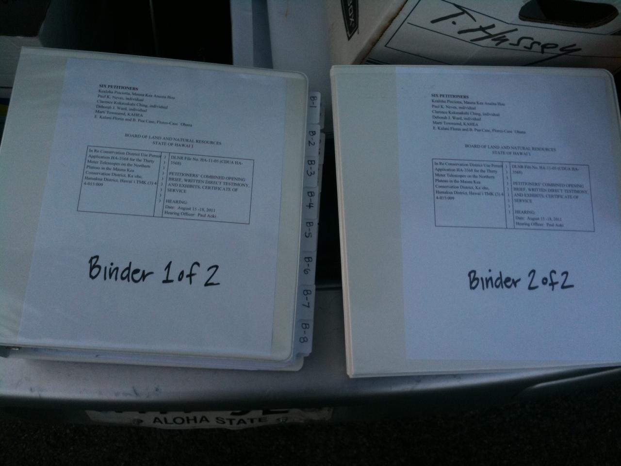 TMT brief binders