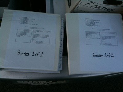 TMT brief binders