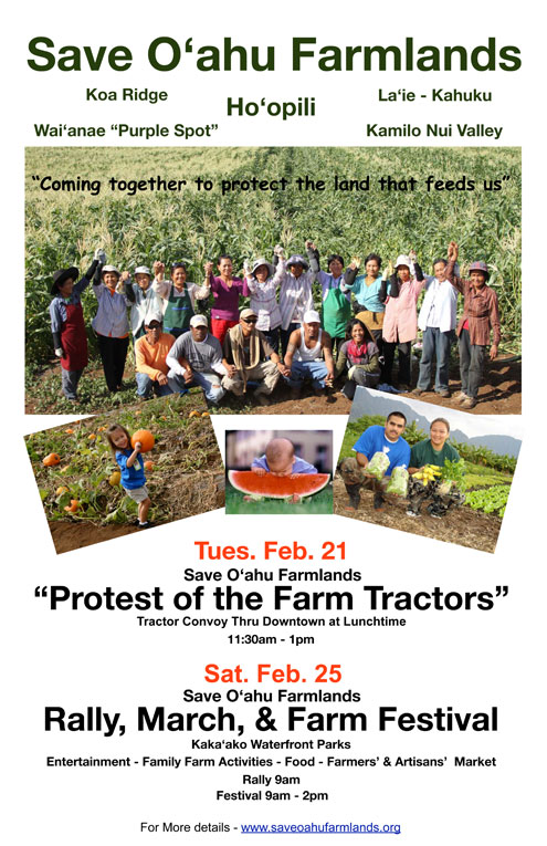 Protest of the Farm Tractors and Rally Flier