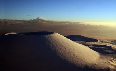 Puu Hau Kea -- Massive Volcanic Cinder Cone On the flanks of Mauna Kea Hawaii