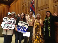Cultural practitioners, environmentalists deliver Mauna Kea demands to Governor
