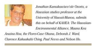 Hawaii's ecosystem harmed by building on Mauna Kea